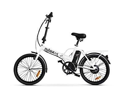 Nilox E-Bike X1 New, Elektrisches Fahrrad Faltend, Weis, One Size