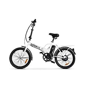 41jSmAIpWeL. SS300 Nilox Doc X1 Bicicletta Elettrica Pieghevole, Motore 36v, Unisex - Adulto, Bianco