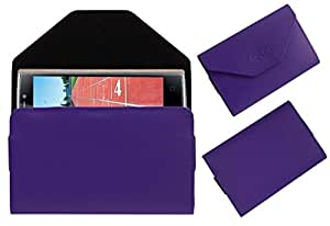 Acm Premium Pouch Case For Iball Andi Sprinter 4g Flip Flap Cover Holder Purple