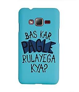 KolorEdge Back Cover For Samsung Z1 - Sky Blue (1410-Ke15133SamZ1SBlue3D)