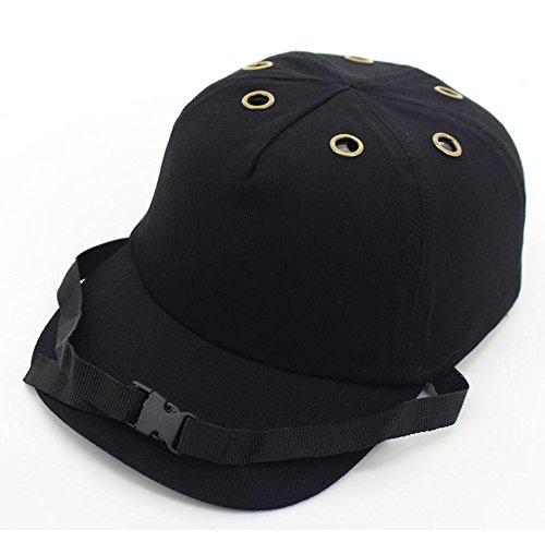 DingSheng Arbeitsschutz Tuch Kappe leicht Sicherheit Hart Hat Verstellbare 4 Loch 6 Loch Baseball Bump Gap Helm Kopf Schutz Kappe -- Unisex Mütze, Kappe für Herren und Damen