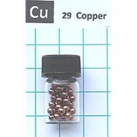 5 g Kupfer-Metallkugeln 3 mm 99,9% in Glasfläschchen – Pure Element 29 Probe