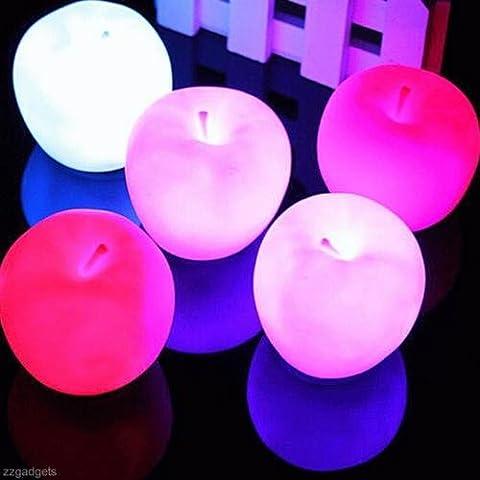 A forma di mela cambia colore lampada LED luce notturna