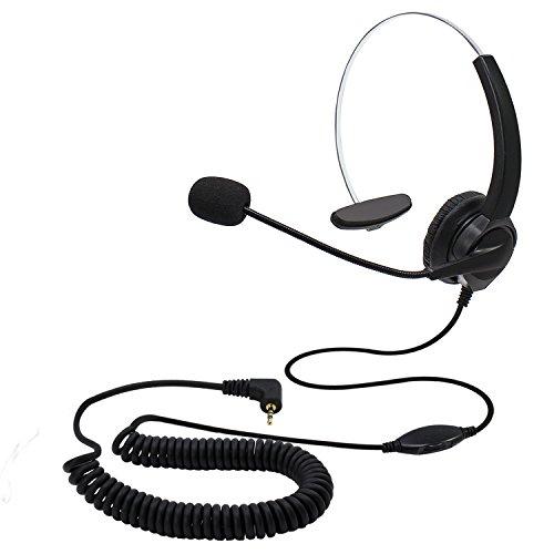 KEESIN Cuffie telefoniche vivavoce per call center Cuffie monouso con cavo per il controllo del volume Cuffie con cancellazione del rumore con jack da 2,5 mm per telefono DECT per ufficio (tipo A)