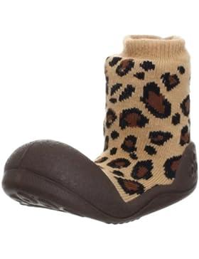 Attipas Animal Brown - ergonomische Baby Lauflernschuhe, atmungsaktive Kinder Hausschuhe ABS Socken Babyschuhe...