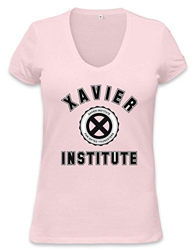 X-Men Xavier Institute Logo Womens V-neck T-shirt Small