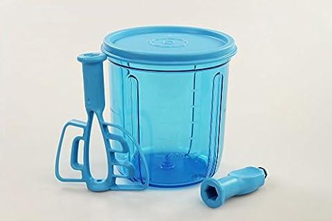TUPPERWARE Chef Erweiterung Multi-Chef Behälter blau+Adapter+Rühreinsatz+Deckel (Multi Chef)