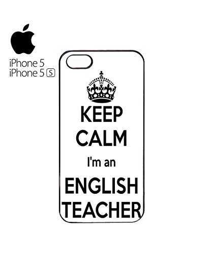 Keep Calm I'm An English Teacher Mobile Phone Case Cover iPhone 6 Plus + White Blanc