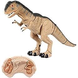 Dinosaurio RC Rugops (Movimiento, Luz y Sonido) Juguetes Original Oferta Niños