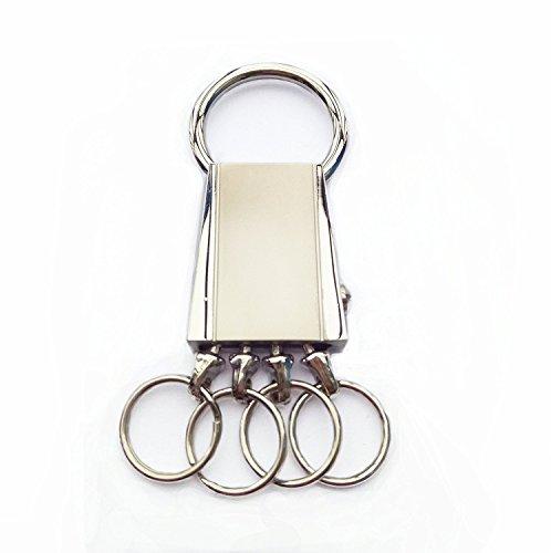 LXMAO Schlüsselanhänger Ringe Schlüsselhalter Abnehmbar mit 4 Schlüsselan Ringen