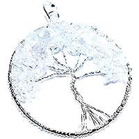 Pendant Clear Quartz 2-2.5 inch +7 CHAKRA TUMBLE Necklace Handmade Chakra Gemstone Jewelry Healing Crystal. preisvergleich bei billige-tabletten.eu
