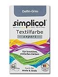 Simplicol Expert Fabric Dye Tinte de Coloración para Textiles: Lavado a Mano o Lavadora - Tiñe y Restaura Sus Telas y Ropa - Gris