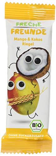 Freche Freunde Bio Fruchtriegel Mango & Kokos, ohne Zuckerzusatz, veganer Früchteriegel für Kinder ab 1 Jahr, 6er Pack, 6 x (4 x 23g)