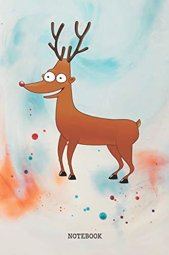 Notebook: Funny Cartoon Baby Deer Planner / Organizer / Lined Notebook (6