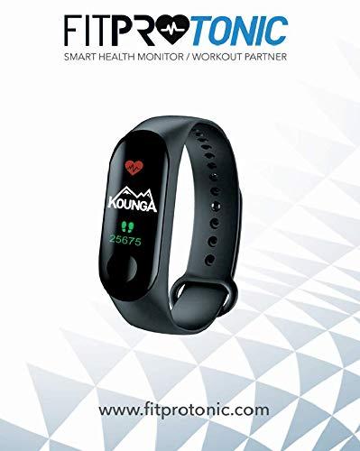 Kounga FitPro Tonic, Pulsera de Actividad Inteligente con Monitor de Sueño, Podómetro, Contador de Calorías, Pantalla a Color 7