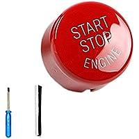 Topker ABS botón del Interruptor del Motor de Coche Start Stop Cubierta para E60 E70 E71 E90 E92
