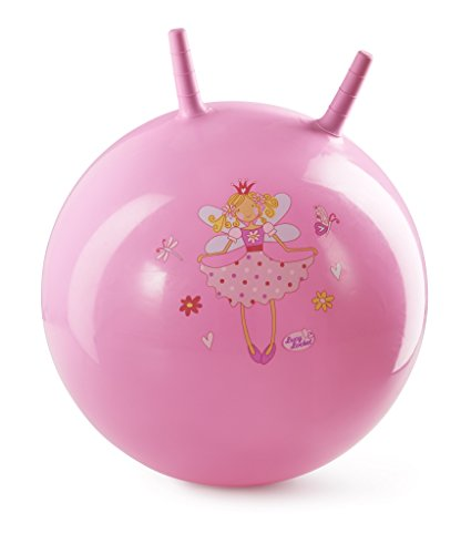 Lucy Locket Elfen Hüpfball für Kinder in Pink - Ball zum Sitzen und Hüpfen für Kinder (45 cm)