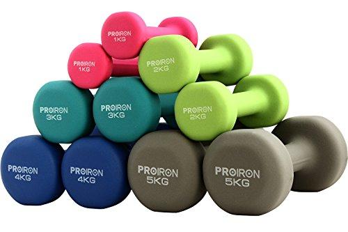 PROIRON Pesi Palestra in Casa Fitness e Palestra Manubri e Pesi Fitness Pesi Per Palestra Manubrio (Set di 2) 2 x 10kg