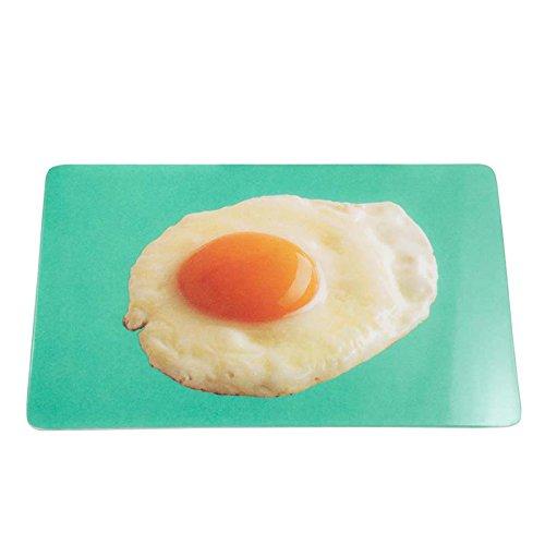 """Frühstücksbrettchen / Schneidebrettchen """"Spiegelei"""", 13 x 22 cm, aus Melamin lebensmittelecht - für DE kostenlose Lieferung ab EUR 29,00"""