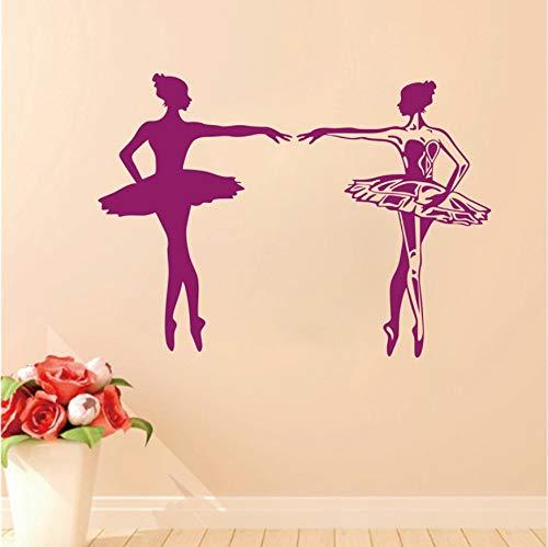 Wandaufkleber Tanzen Ballett Mädchen Worte für Kinder Kinderzimmer Tanzraum Tanz Trainingsgelände 57X57cm