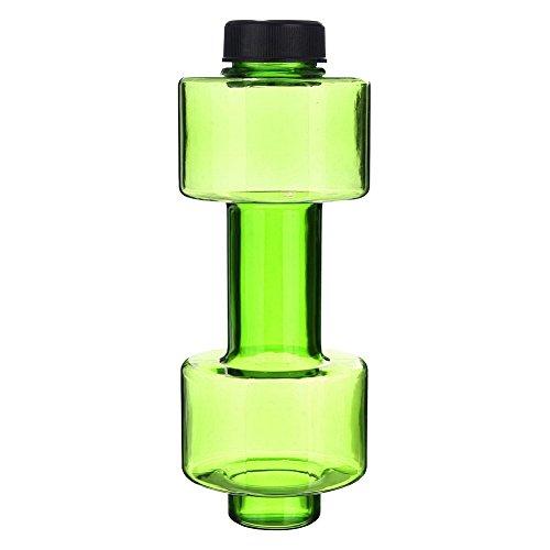 HshDUti 550ml Outdoor Hantelschale Fitness Sport Kunststoff klare auslaufsichere Wasserflasche Green