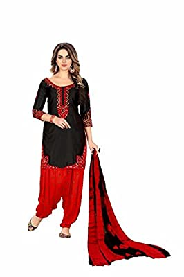 Capri Creation punjabi patiyala suits for women | patiyala suits material | patiyala suits combo | patiyala suits design (1187_Black_Unstitched)