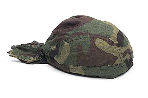 Zan Headgear Flydanna Headwrap, Distinct Name: Woodland Camo, Primary Color Green, Gender: Mens/Unisex, Size: OSFM Z118C