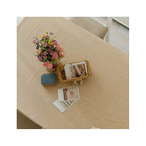 Functionaryb tovaglia per tavolo da pranzo in tinta unita per tovaglie da esterno quadrate impermeabili in tela di cotone moderno