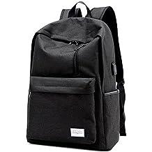 QYXANG Smart School Bag Mochila Portátil de Viaje Mochila Casual Profesional con Puerto de Carga USB