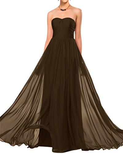 Sunvary semplice, senza spalline in Chiffon Elegante vestito da damigella d'onore abito da matrimonio Chocolate