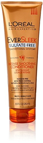 L' Oreal Paris Eversleek Sulfate free Smoothing System intense Smoothing conditioner, 8.5FL. oz by Dodo Store
