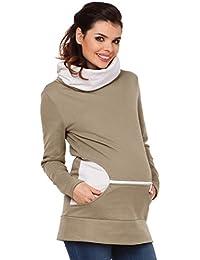 Zeta Ville - Sudadera de lactancia 2 en 1 cuello desbocado - para mujer - 073c