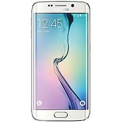 Samsung Galaxy S6 Edge Smartphone débloqué 4G (32 Go - Ecran : 5,1 pouces - Simple SIM - Android 5.0 Lollipop) Blanc