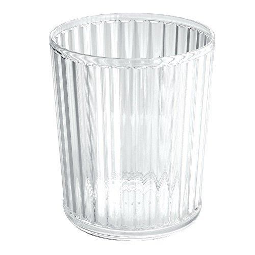 Mdesign cestino rotondo per raccolta differenziata – ideale come cestino ufficio per raccolta carta e pattumiera differenziata – dal design moderno - colore: trasparente