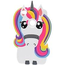 Huawei P8 Lite 2017 Funda, BENKER Anti-Arañazos & Shockproof Imágenes de Dibujos Animados en 3D de Alta Calidad de Silicona Funda Protección Cubrir Suave Flexible Funda Carcasa - Rainbow Unicornio
