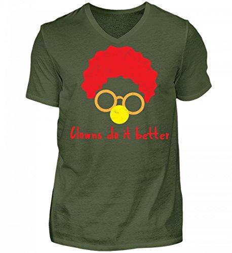 V-Neck Shirt - Clown - Zirkus - Geschenk - Karneval - Kostüm - Circus - Gift: Clowns Do It Better (Zirkus Kostüme Ideen Für Männer)
