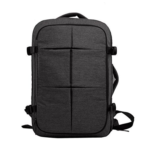 Cai 15.6 '' Multifunktions-Alien-Laptop-Rucksack Wasser / Tear Resistant Reisetasche Mode Casual Durable Rucksack Daypack Extensible Anti-Diebstahl-Rucksack für Männer Frauen 6071 Ash Black (Rolling Tumi Luggage)