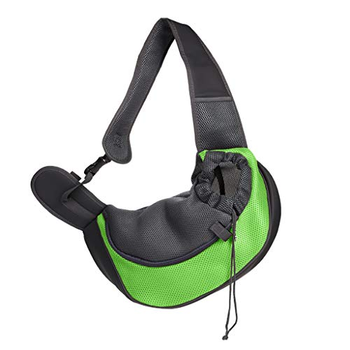 WJQSD Hund Katze Haustier Sling Carrier, Travel Puppy Umhängetaschen Walking, Outgoing Travel (Color : B, Size : L) (Puppy Sling Carrier)