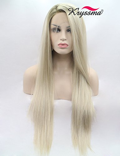 kryssma-mixed-blonde-ombre-lace-front-wigs-uk-long-synthetic-hair-straight-best-wigs-for-white-women