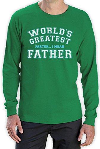 Geschenke für Väter mit Humor - Worlds Greatest Father Langarm T-Shirt Grün
