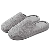 Neeseelily Slippers for Women Breathable House Slipper Memory Foam Anti-Slip Rubber Sole Slip-on Home Shoes Slippers for Autumn Winter Indoor & Outdoor Use (6.5-7.5 B(M) US, Grey)