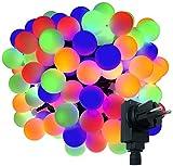 180-er XXL Party-Lichterkette | strombetrieben | 17,9m + Zuleitung | IP44 Innen- und Außenbereich | Deko | Weihnachten | Sommerlichterkette |...