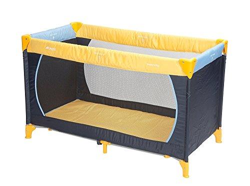 Hauck Kinderreisebett Dream N Play, inklusive Matratze und Transporttasche, 120 x 60 cm, ab Geburt, tragbar und faltbar, blau, gelb (Yellow, blue navy)