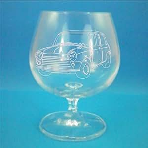 Bohême cristal Brandy verre avec Mini Cooper présenté dans boîte cadeau Design classique