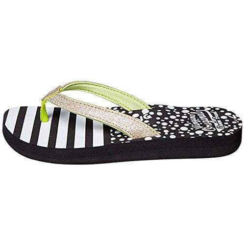 vingino fille séparateurs d'Kate Flip Flop Black/White Multicolore - Black-White