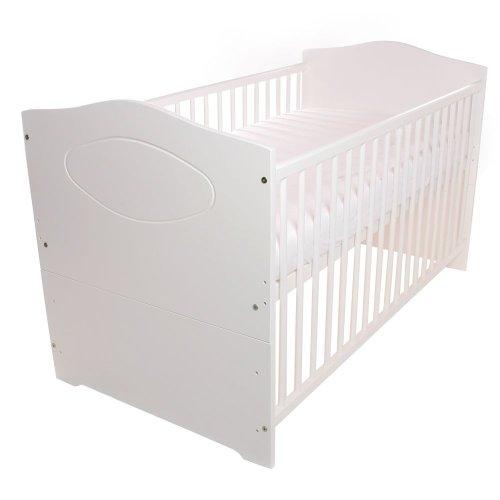 BABYBLUME Babybett Kinderbett Jugendbett 140x70 umbaubar - weiß