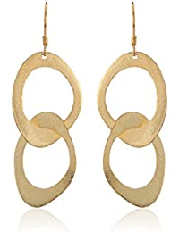 Thingalicious Gold Plated Drop Earrings for Women (TER00065)