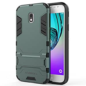 new concept 98520 be6f6 Samsung Galaxy J3 2017 Case, ALDHOFA Slim Armor Shockproof Protective Hard  Case Cover With Stand for Samsung Galaxy J3 2017,Samsung J3 Duos 2017 ...