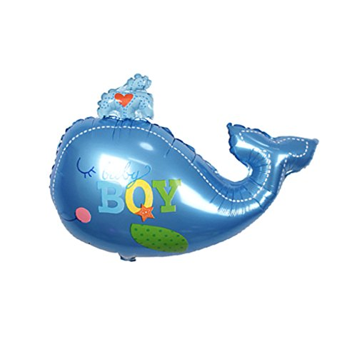 Sharplace Baby Wal Form Folienballon, Baby Luftballons Folie, Luftballons Baby Dusche, Helium-Ballons für Baby Party - Blauer Junge