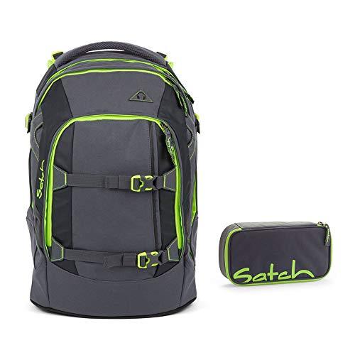 Satch Schulrucksack-Set 2-TLG Pack Phantom grau